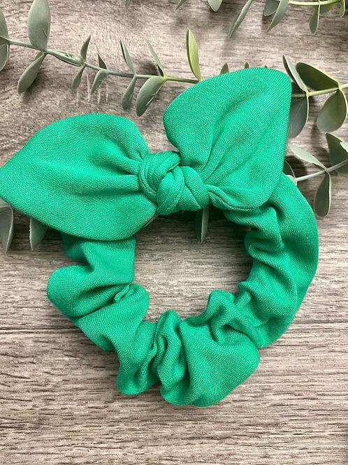 Jade Knot Bow Scrunchie