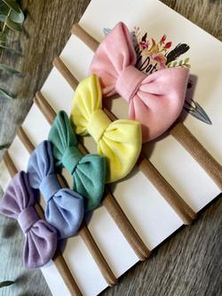 Mini Classic Bow Rainbow Pastel 1