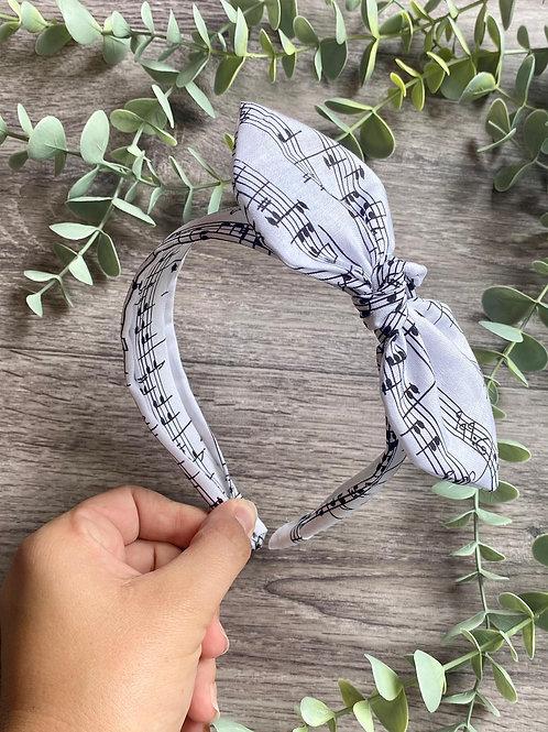 Musical Notes Knot Bow Headband