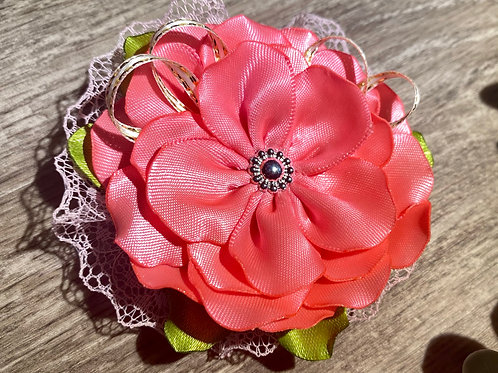 Coral Flower Clip