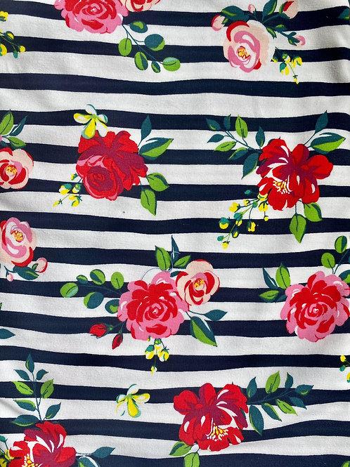 Rose and Stripe Scrunchie