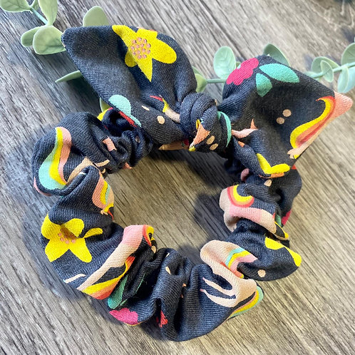 Knot Bow Scrunchies Rainbows and Unicorns
