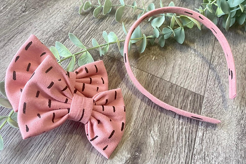 Aliceband and Bow Set Dots and Dashes