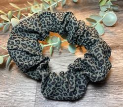 Mini Khaki Leopard Scrunchie