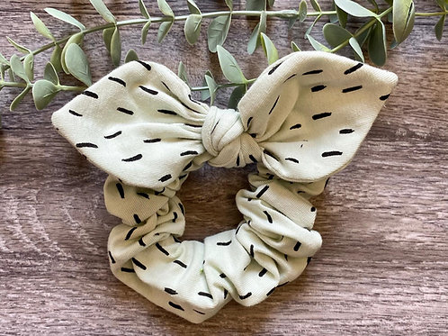 Mint Dash Knot Bow Scrunchie