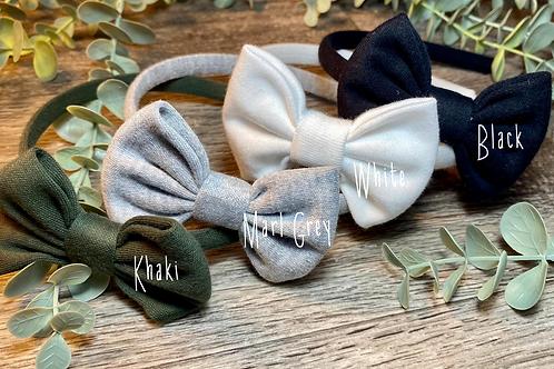 Marl Grey Classic Bow Headband
