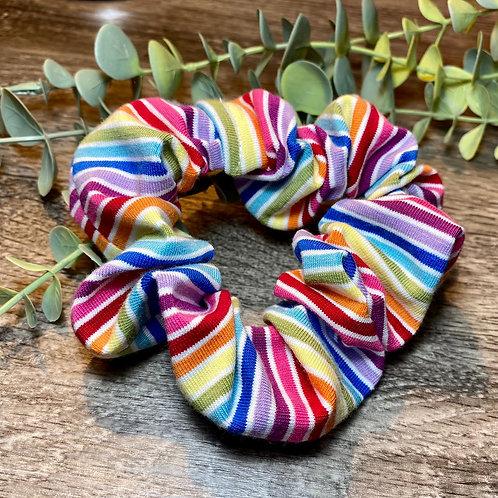 Scrunchie Rainbow Stripe