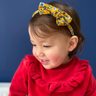 Mustard Floral Classic Bow Headband