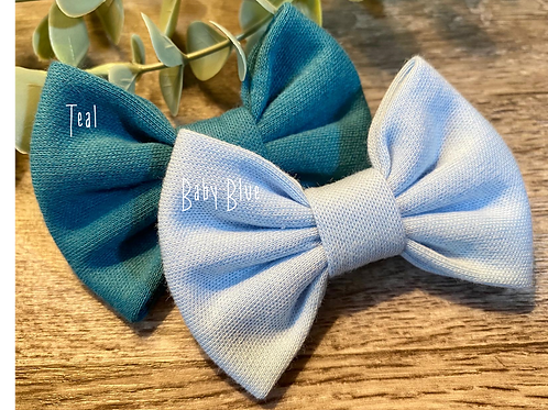 Baby Blue Classic Bow Prong Clip