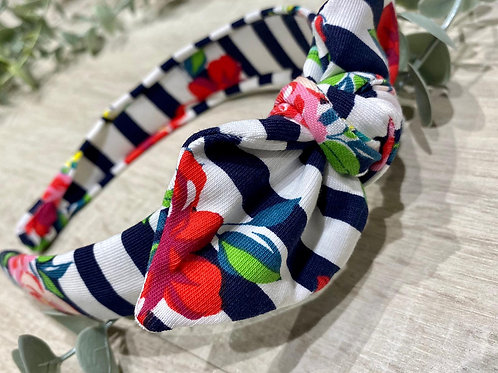 Knot Bow Headband Floral