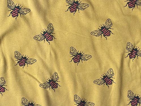 Mustard Bee Knot Bow Bobble
