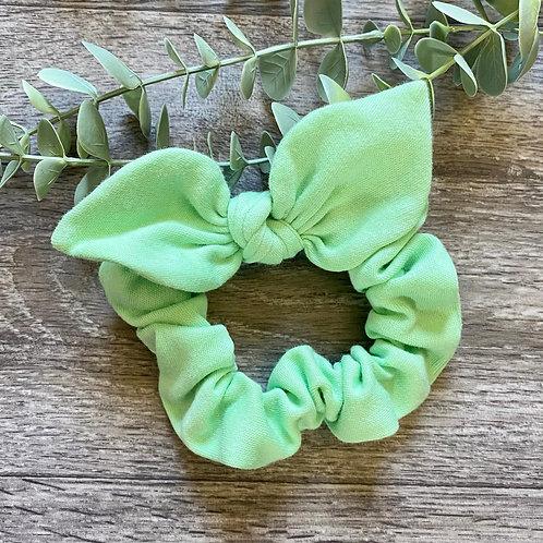 Mint Knot Bow Scrunchie