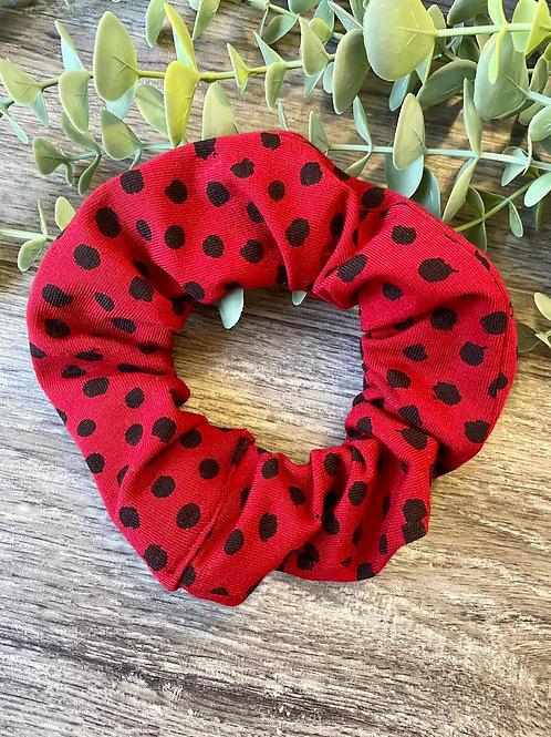 Red Flurry Spot Scrunchie