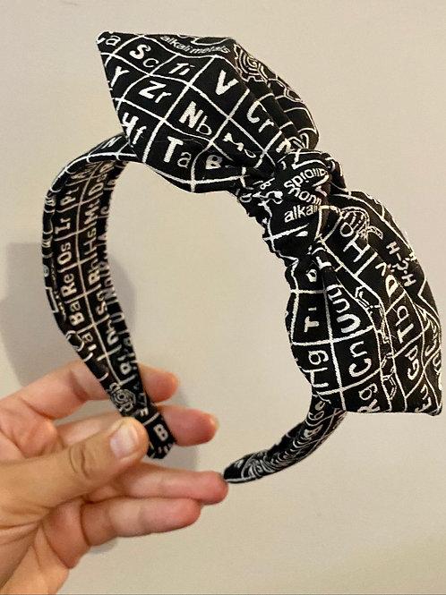 Periodic Table Knot Bow Headband
