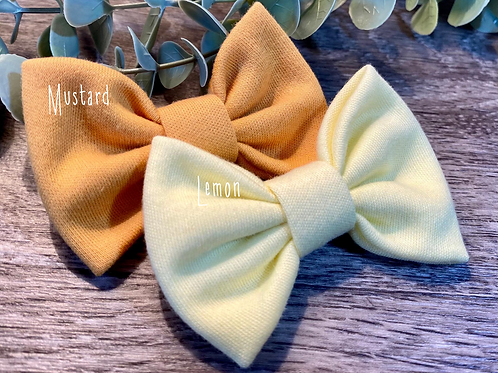 Mustard Classic Bow Prong Clip
