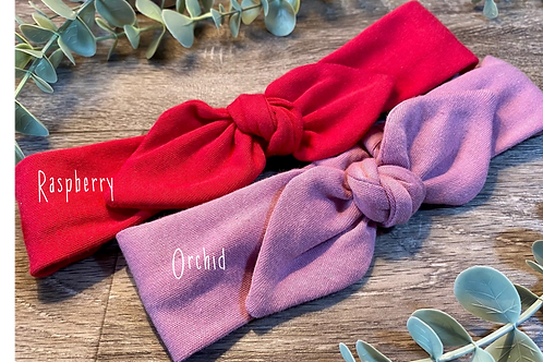 Orchid Knot Bow Elasticated Headband