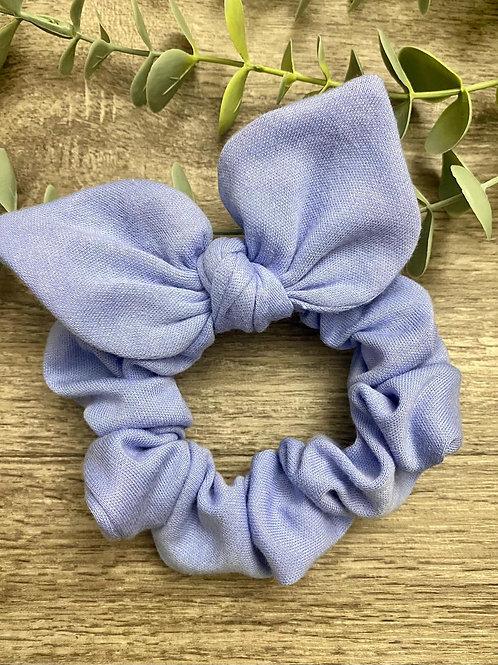 Cornflower Blue Knot Bow Scrunchie