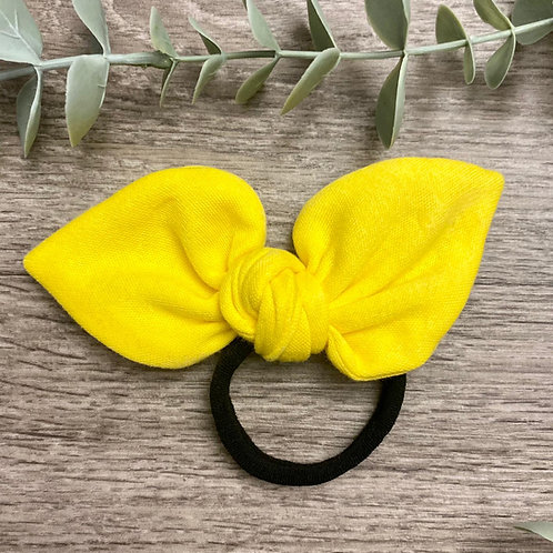 Bright Yellow Knot Bow Bobble