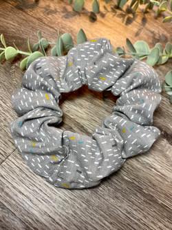 Grey Mini Dash Scrunchie