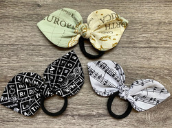Periodic Tabel, World Map and Musical Notes Knot Bow Bobble