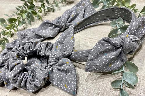 Grey Mini Dash Headbands