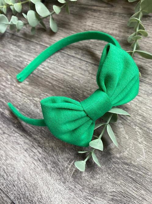 Jade Classic Bow Headband