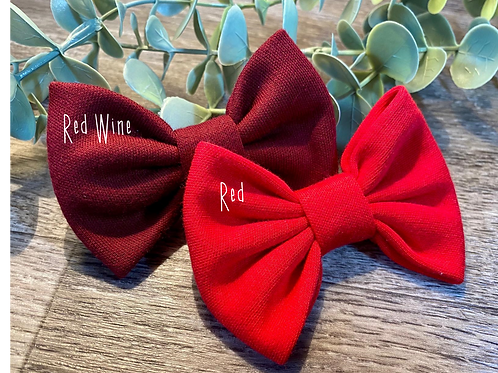 Red Wine Classic Bow Prong Clip