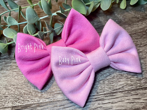 Bright Pink Classic Bow Prong Clip