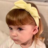 Lemon Knot Bow Elasticated Headband