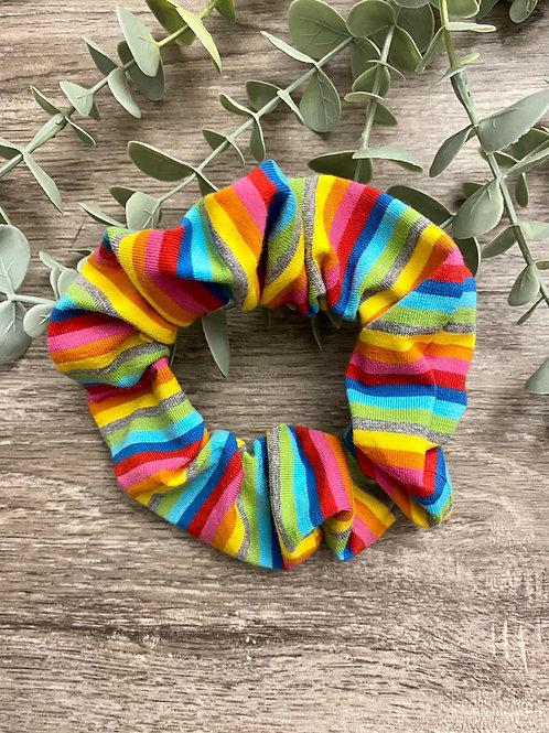 Bright Rainbow Stripe Scrunchie