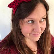 Red Flurry Knot Bow Headband