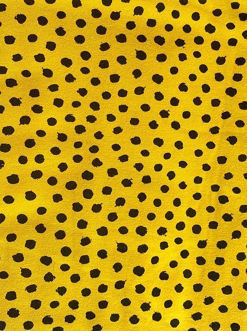Mustard Flurry Spot Scrunchie