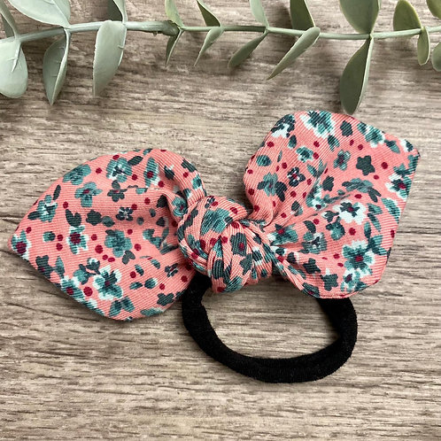 Pink Floral Knot Bow Bobble