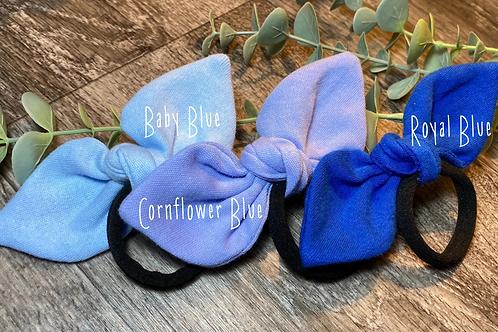 Cornflower Blue Knot Bow Bobble