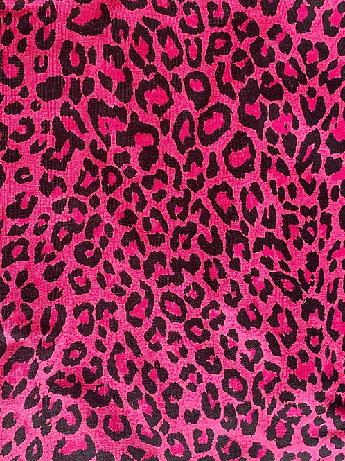 Pink Leopard Knot Bow Elasticated Headband
