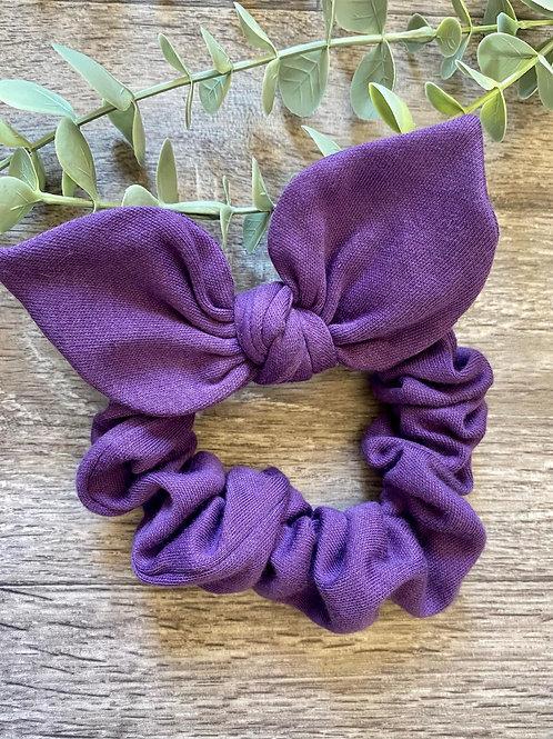 Purple Knot Bow Scrunchie