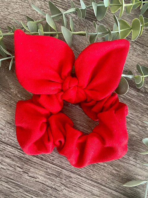Red Knot Bow Scrunchie