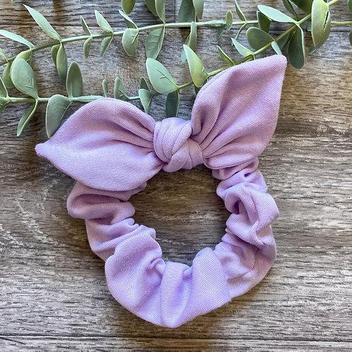 Pale Lilac Knot Bow Scrunchie