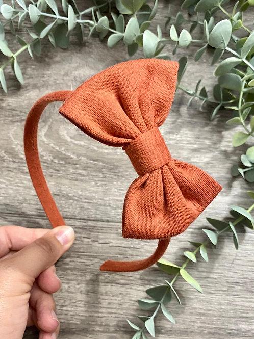 Rust Classic Bow Headband