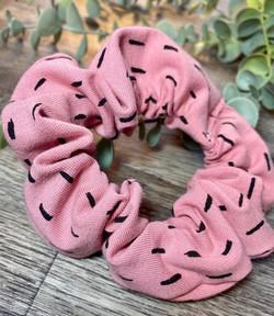 Pink Dash Scrunchie