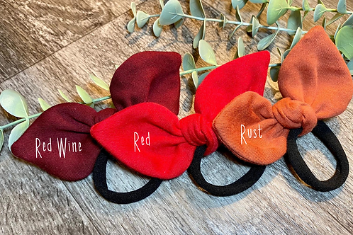 Red Wine Knot Bow Bobble