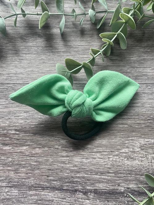 Mint Knot Bow Bobble