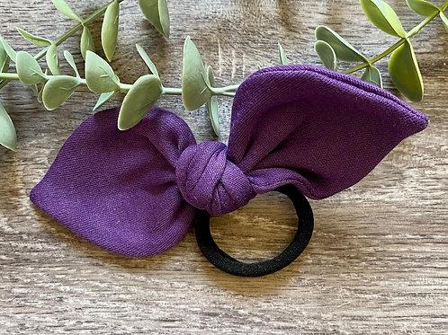 Purple Knot Bow Bobble