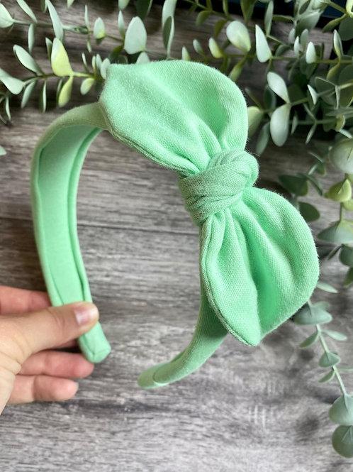 Mint Knot Bow Headband
