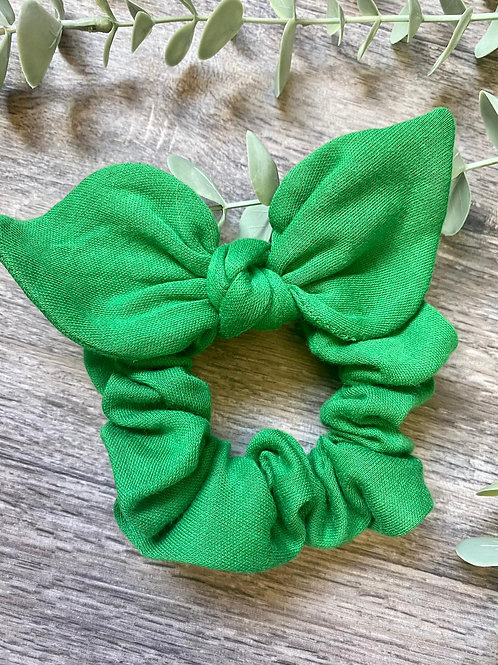 Emerald Knot Bow Scrunchie