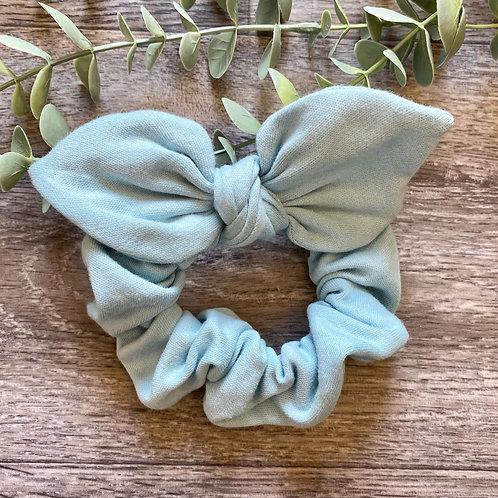 Duck Egg Knot Bow Scrunchie