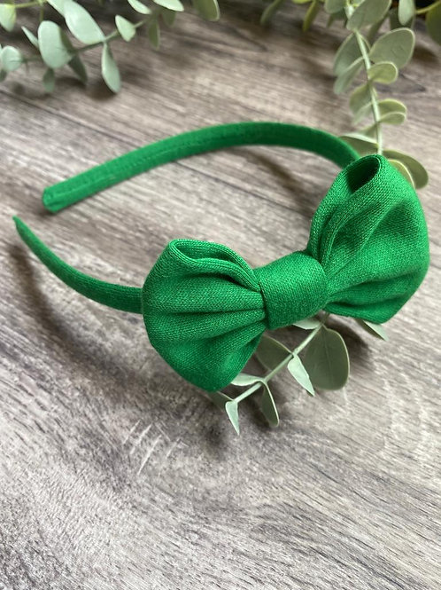 Emerald Classic Bow Headband