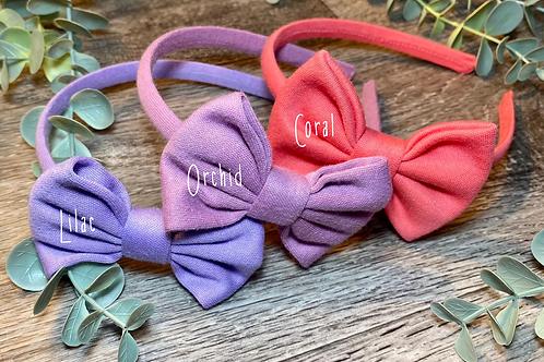 Coral Classic Bow Headband