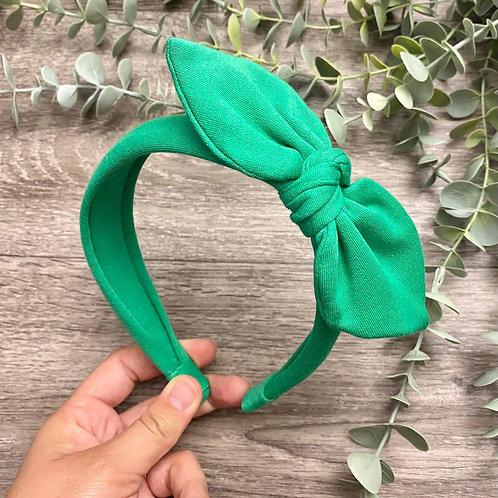 Jade Knot Bow Headband