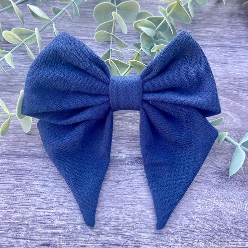 Navy Holly Bow